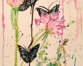 Bright Blue Butterflies