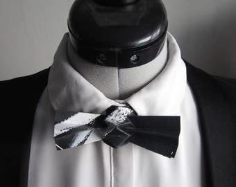 bow tie in white and black origami - mixed
