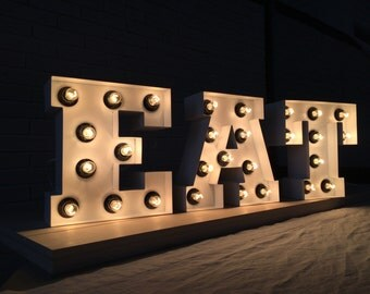 letters light up, large letter, letter lights