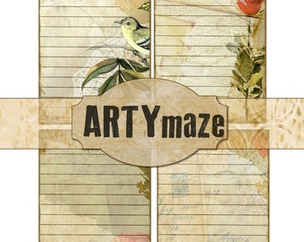 DIGITAL JOURNALING spots & Ephemera for Handmade Journals