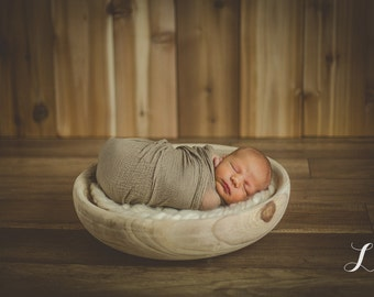 Rustic Wood Bowl Prop, Newborn Photo Prop, Photography Prop, Bowl Prop