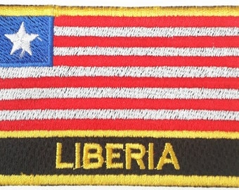 Liberia Embroidered Sew or Iron on Patch Badge