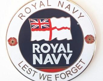 Royal Navy Commemorative Enamel coin And Gift Box