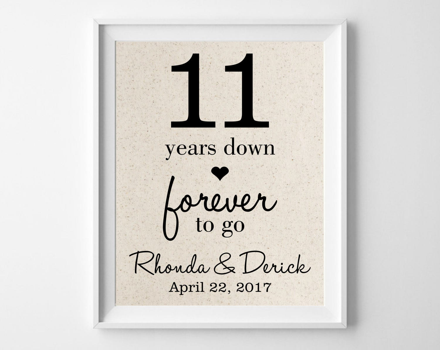 11 Wedding Anniversary Gift Ideas: 11 Years Down Forever To Go 11th Anniversary Gift For