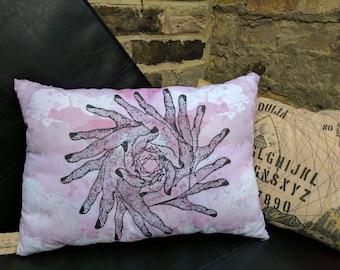 Hand Rose Watercolour Cushion