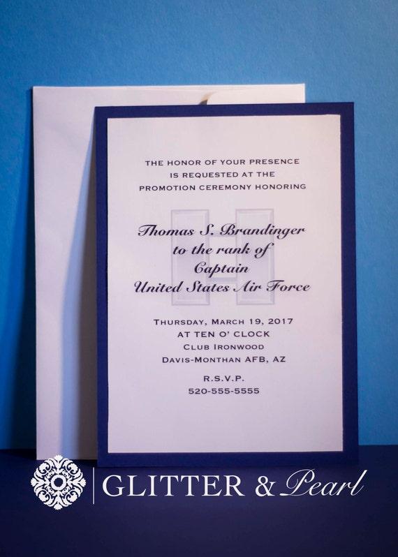 Military promotion invitations custom military invitation like this item stopboris Image collections