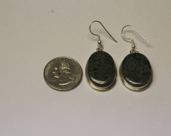 Vintage sterling silver stone earrings baek