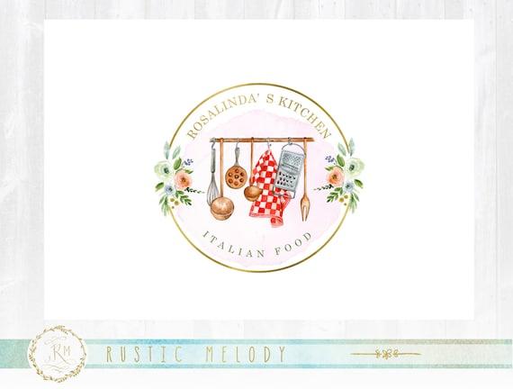 Kitchen Logo Design Food Blog Logo Restaurant Logo Rustic