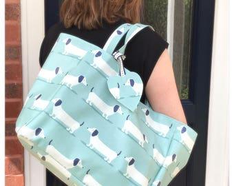Dachshund Tote Bag - Tote Bag - Dachshund Tote - Reusable Grocery Bag - Market Bag - Market Tote - Gifts for Dog Lovers - Oilcloth Bag - Dog