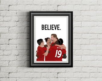 Liverpool FC - Believe - A4 Football Poster