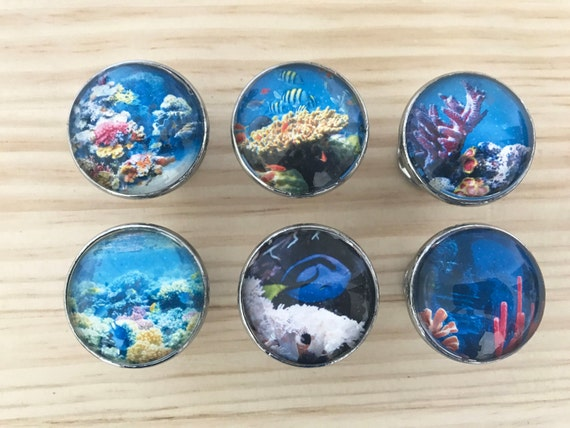 Ocean Fish Themed Decorative Drawer Knobs for Cabinets
