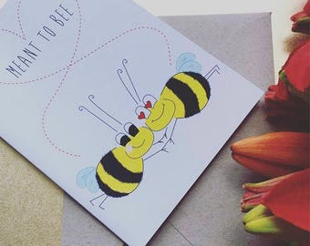 Meant to Bee DIGITAL / PRINTABLE Card