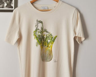 Printed fennel tee from an original artist's painting