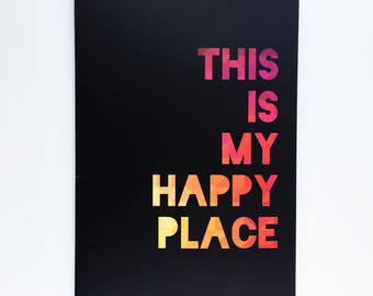 This is my happy place A4 notebook