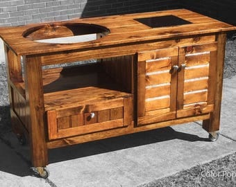 Custom Big Green Egg Table \ Stand (Free Shipping For Some Areas)