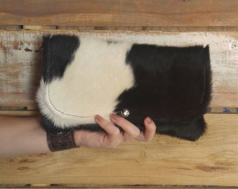 Black and White Rustic Chic Clutch