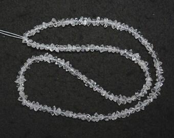 Herkimer Diamond Beads,Herkimer Diamond Small Nuggets, Raw Herkimer Diamond Beads -  16 Inches Strand
