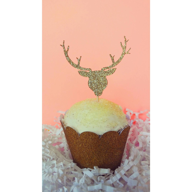 Deer Antler Wedding Cake Toppers Australia