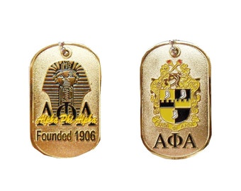 Alpha Phi Alpha Fraternity Two Sided Sphinx Dog Tag Necklace APADT1