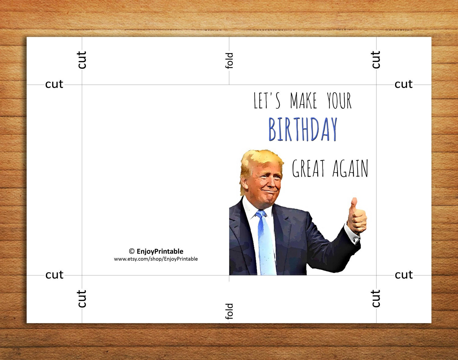 photo about Donald Trump Birthday Card Printable titled Donald Trump Birthday Card: Donald Trump Birthday Card Amusing