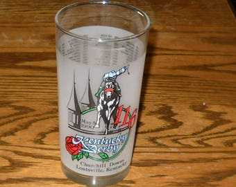 Kentucky Derby Mint Julip Glass 1990