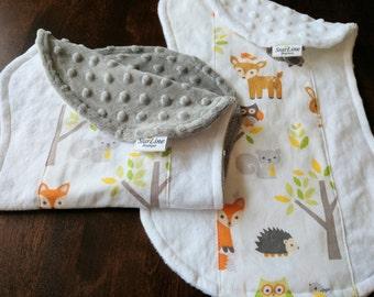 Woodland Burp Cloths, Woodland Baby Shower, Woodland Animals Nursery, Woodland Animals Baby Shower, Gender Neutral Burp Cloths, Baby Gift