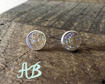 Druzy Earrings- Champagne