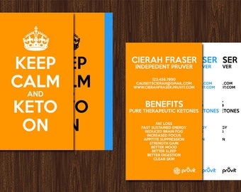 Pruvit Business Cards | Keto//OS | Promoting Business Cards | Digital and Printable Design | Downloadable | Keep Calm