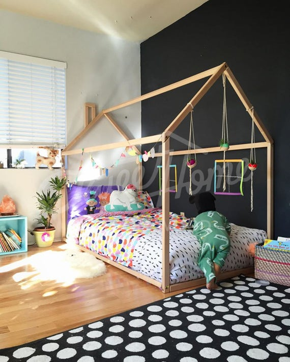 toddler bed house bed tent bed children bed wooden house. Black Bedroom Furniture Sets. Home Design Ideas
