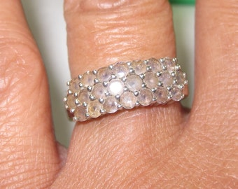 H-46 Vintage Ring size 7 1/2  925  silver