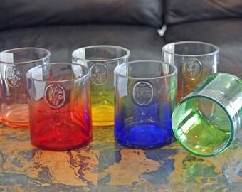 Set of 6 Ciroc Glasses Tumblers / Vodka Glasses / Glass Tumbler / Low Ball Glass / Vodka Gifts / Set of Liquor Bottle Glasses / Liquor Gifts
