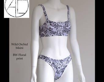Wild Orchid bikini Womens swim suit BW Floral print