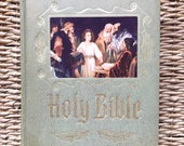 free domestic shipping--Large Holy Bible King James Version published by Heirloom Bible Publishers, Inc. 1964
