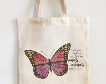 Butterfly beach bag | Etsy