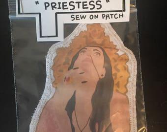 Priestess sew on patch