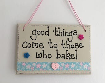 Good Things handmade wooden gift plaque