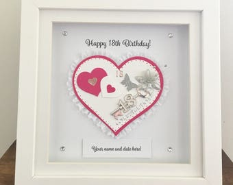 Personalised 18th birthday Gift Frame