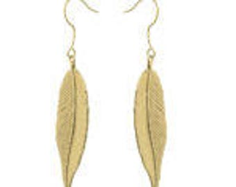 Gold Leaf Earrings that can be worn night or day