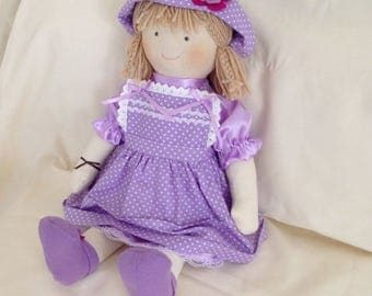 trapo.55cm-21.5inch fabric doll. waldorf. handmade dolls. fabric dolls. cloth rag doll.muneca