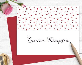 personalized stationery, Personalized stationary set,Modern stationery for girls, custom stationery set, folded note cards PS007