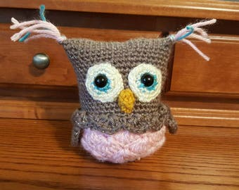 Crochet Baby Owl in Nest