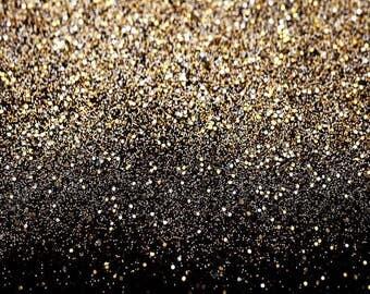 Vinyl Glitter Black Gold Dots Party Photography Studio Backdrop Background