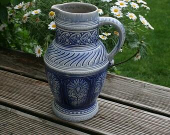 old Jasba vase relief pattern rare 28 cm