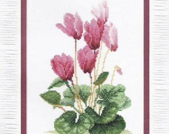 Cross Stitch Kit Cyclamen