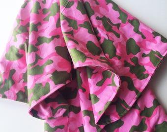 Pink Camo Receiving Blanket, Flannel Receiving Blanket, Stroller Blanket, Pink Camouflage Flannel Blanket, Swaddling Blanket, Nursing Cover
