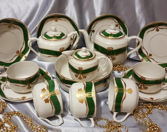 USSR MSTA Proletary antique tea set 1920-1930 Very rare!!