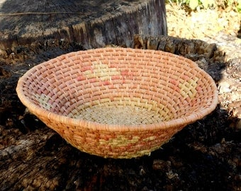 1930s/40s Hand Woven Native American Basket