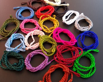Twisted Silk Cord Necklaces in 21 Colors  - Free Shipping