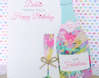 Personalised Handmade Birthday Card 18th, 21st, 30th, 40th, 50th, 60th, 70th Daughter, Cousin, Sister, Friend