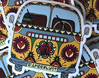 Wanderlust Bus Vinyl Sticker